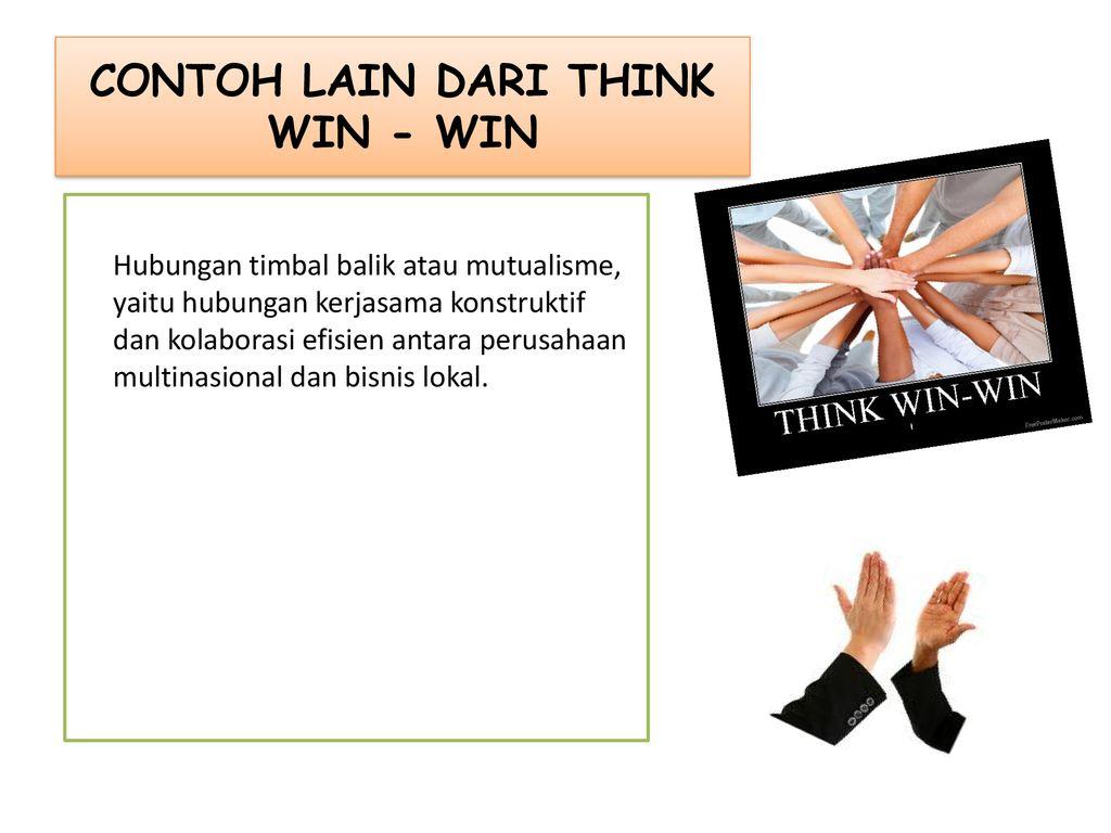 Think Win Win Nama Kelompok 1 Mentari Noni P Ppt Download