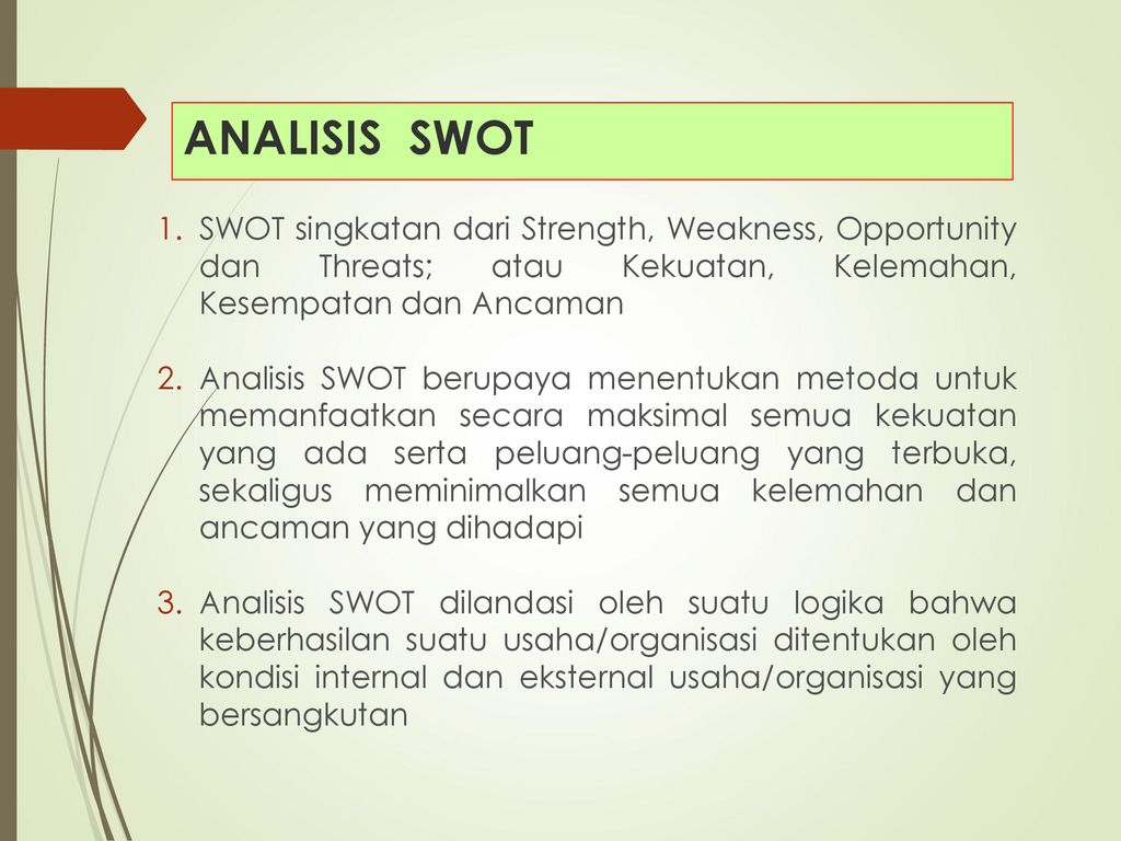 Analisis Swot Rencana Usaha Ppt Download