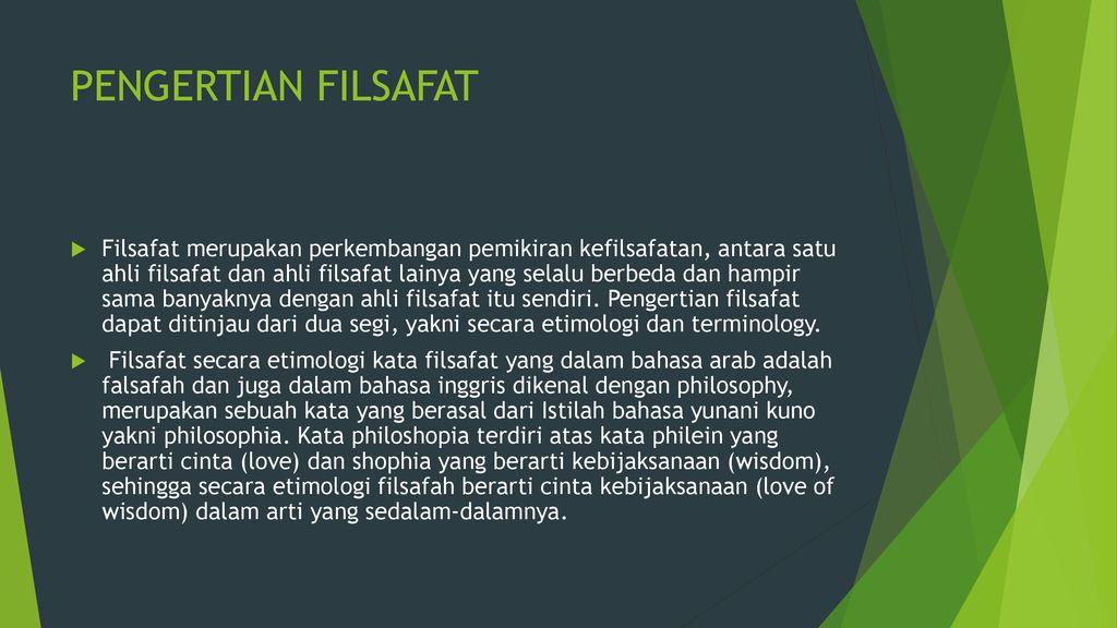 Konsep Filsafat Umum Dan Sifat Dasar Berfikir Filsafat Ppt Download