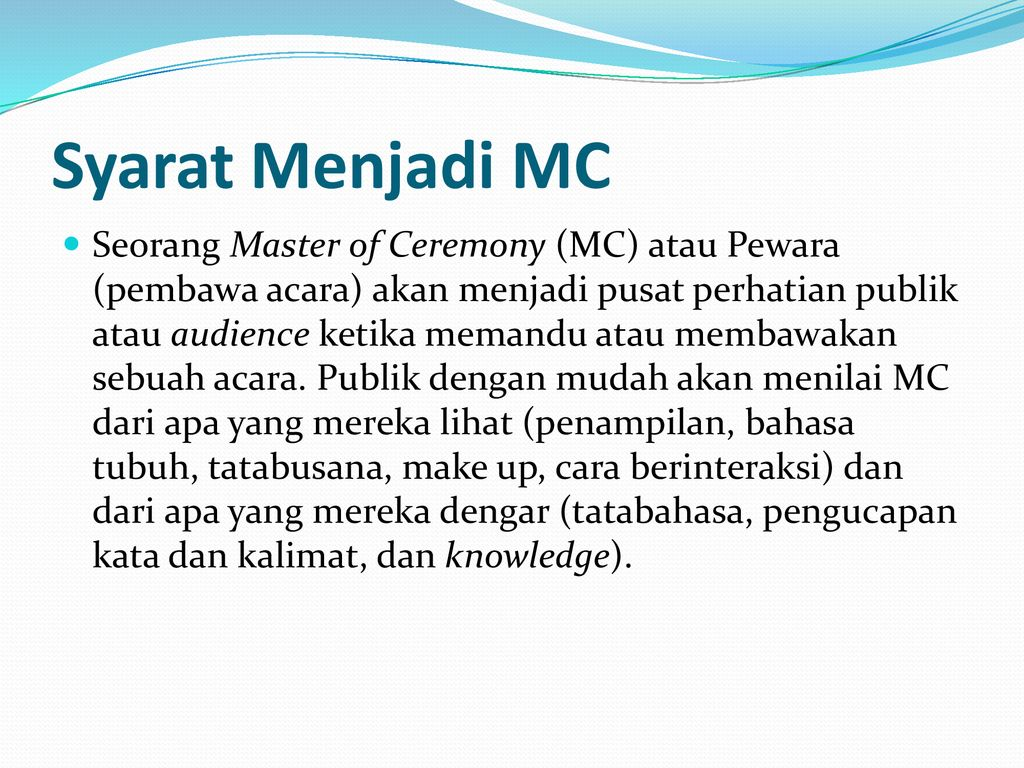 Pelatihan Mc Dan Protokoler Ppt Download