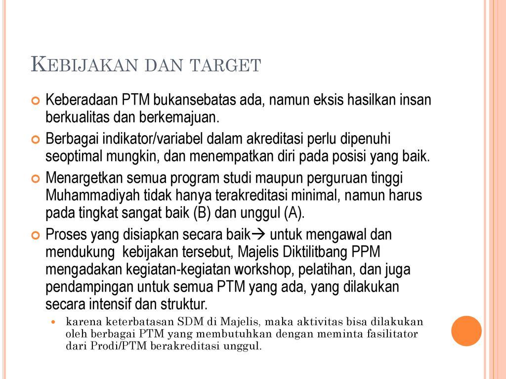 Spmi Dan Instrument Baru Strategi Akreditasi Ptm Menuju Aipt