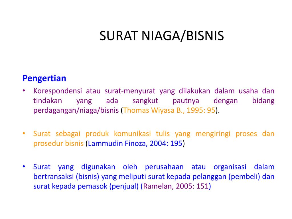 Surat Niagabisnis Pengertian Ppt Download