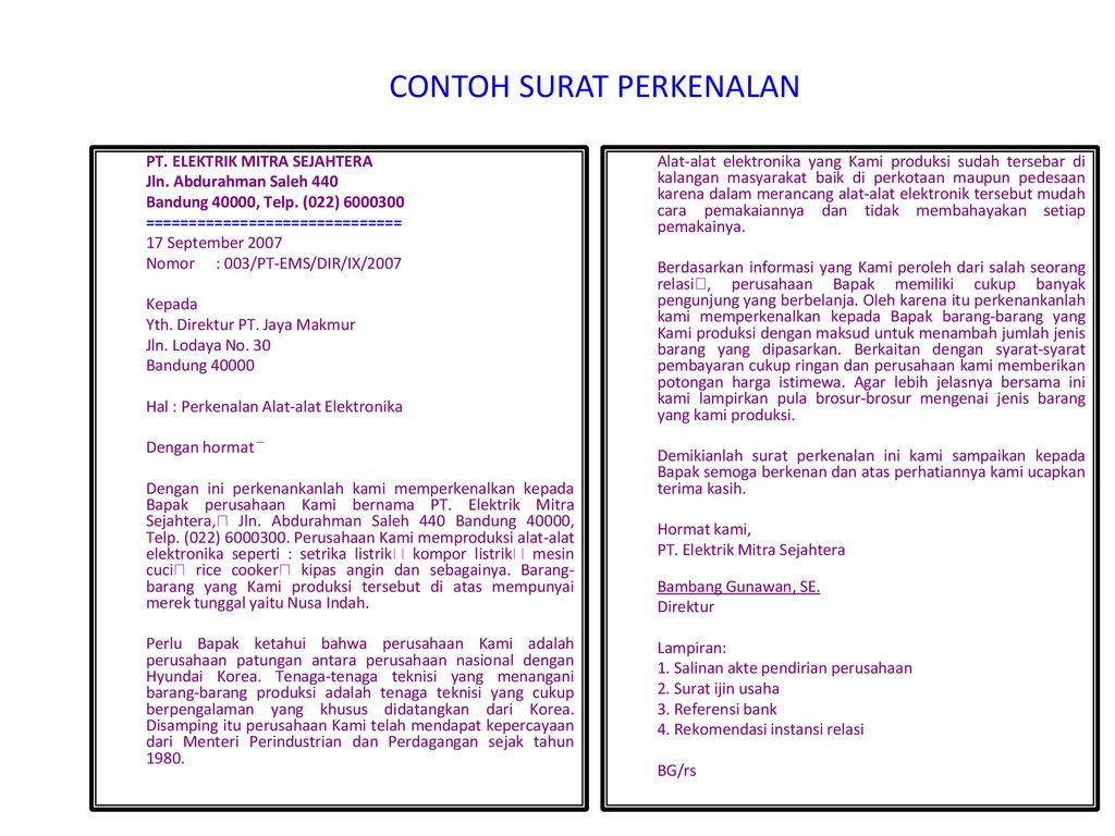 Surat Niagabisnis Pengertian Ppt Download