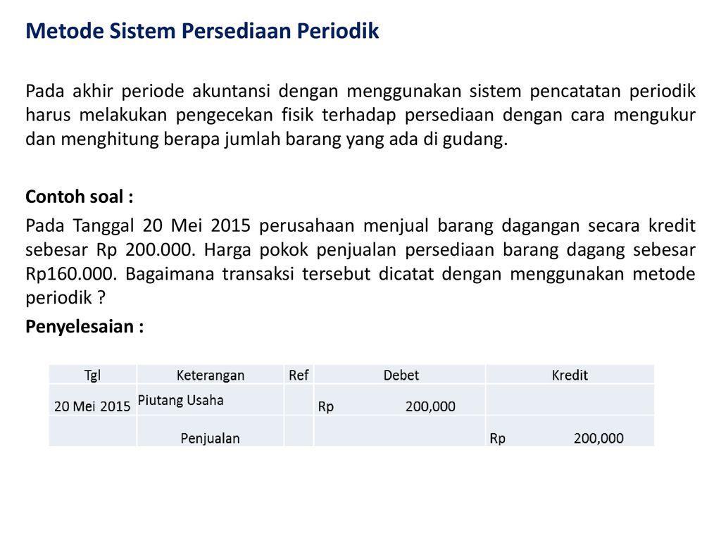 Akuntansi 2 Persediaan Oleh Herlambang Pudjo Santosa Ppt Download
