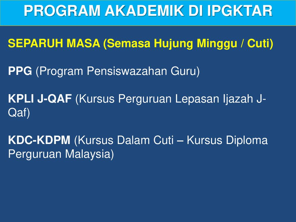 Institut Pendidikan Guru Kampus Tun Abdul Razak Ppt Download