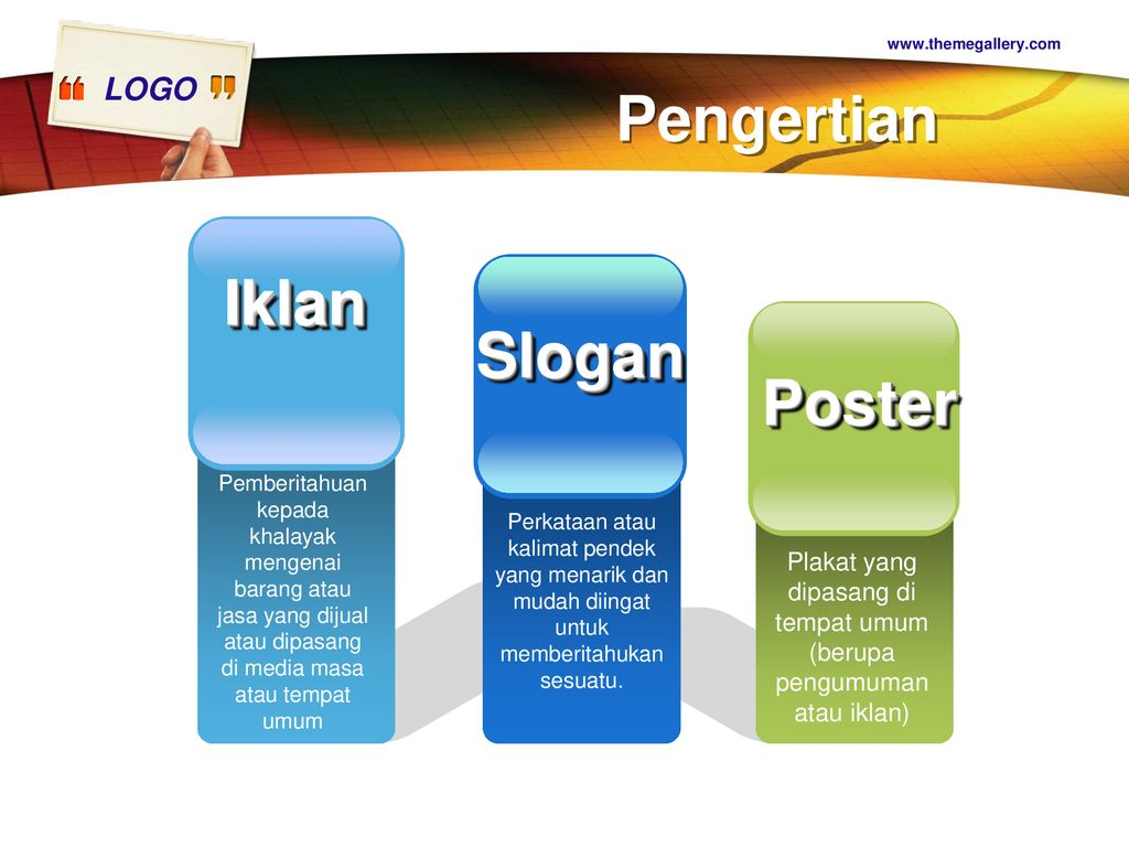 Contoh Gambar Iklan Slogan Dan Poster Materi Pelajaran 9