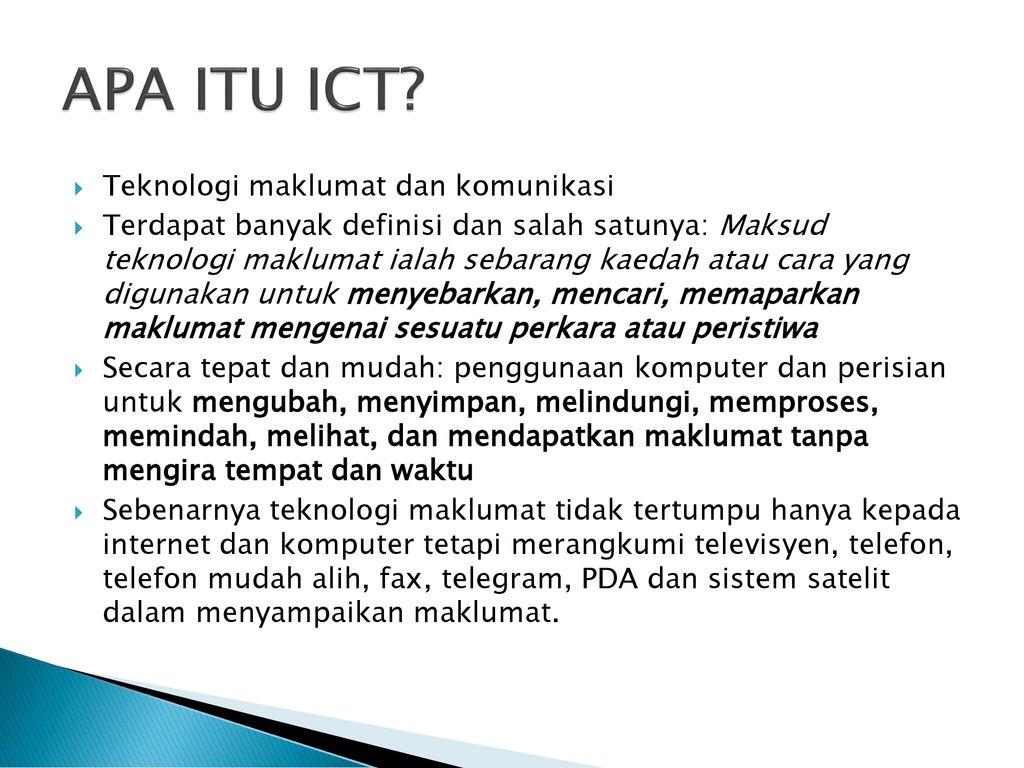Pembelajaran Tentang Teknologi Maklumat Dan Komunikasi Ppt Download