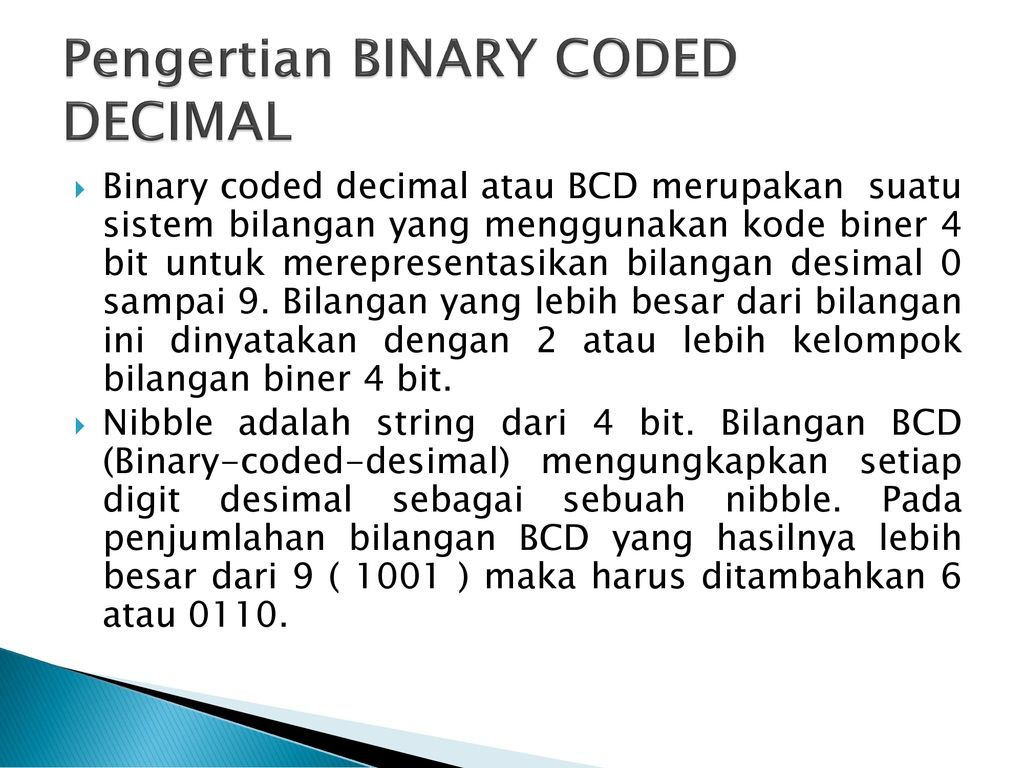 Pengertian BCD (Binary Coded Decimal) dan Cara Konversi BCD
