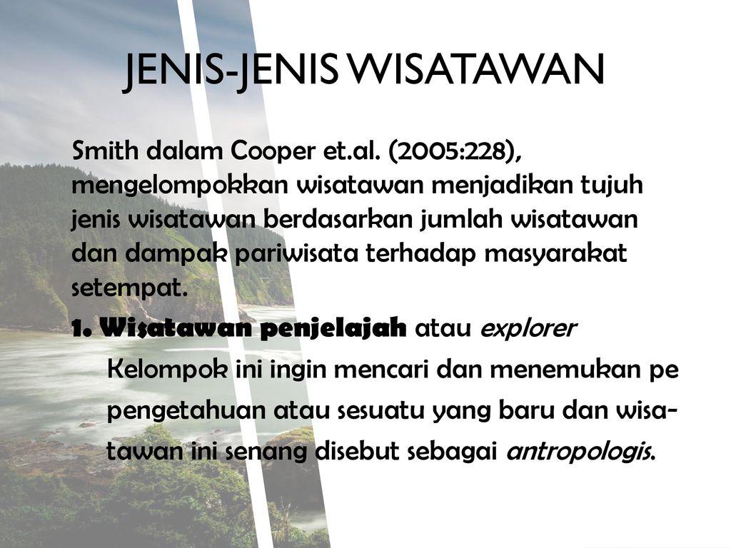 WISATAWAN PERTEMUAN KE V. - ppt download