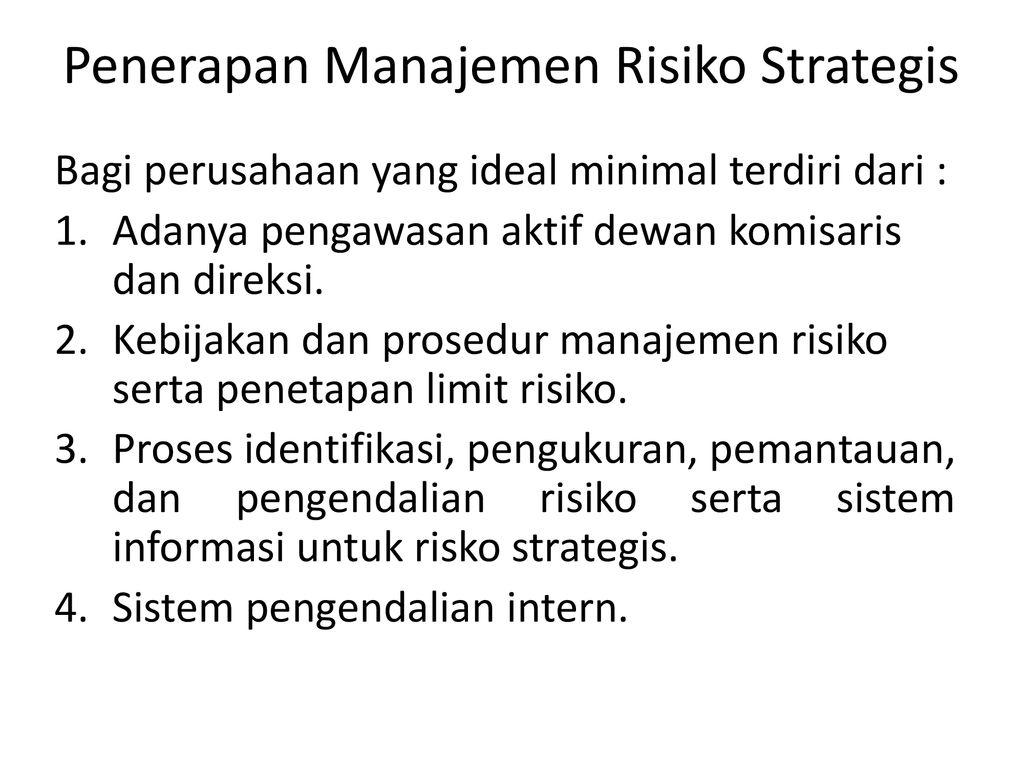 33++ Makalah manajemen risiko strategis ideas in 2021