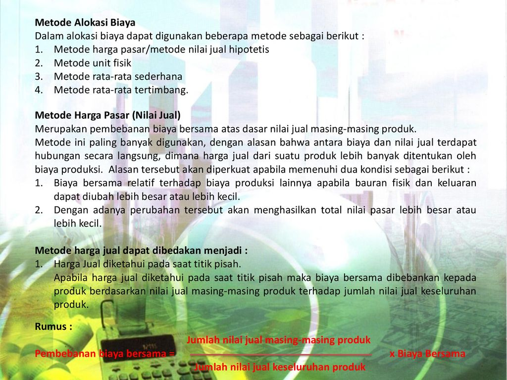 Contoh Soal Dan Jawaban Metode Harga Pasar