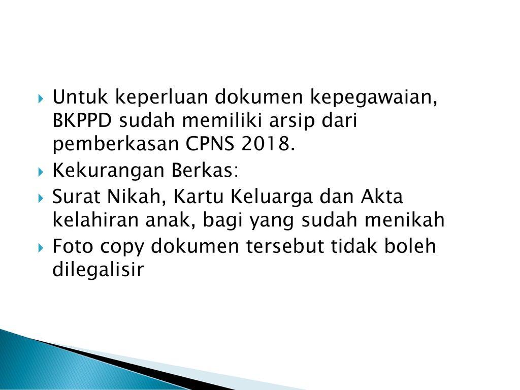 Standard Dokumen Kepegawaian Cpns Ppt Download