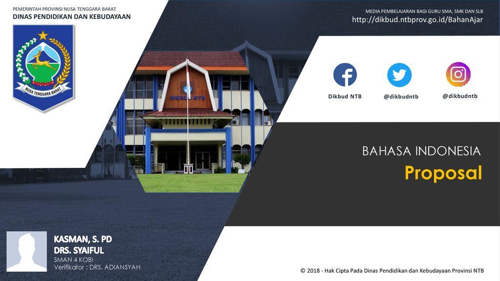 Proposal Bahasa Indonesia Kasman S Pd Drs Syaiful Ppt Download