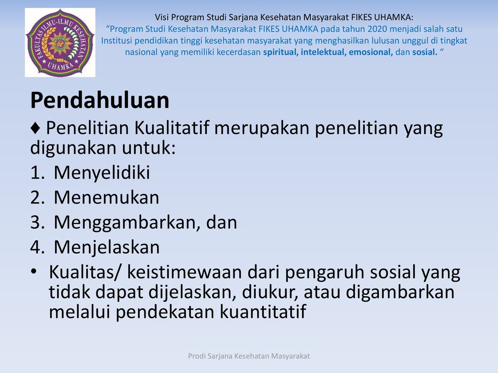 Sesi 9 Metode Penelitian Kualitatif Ppt Download