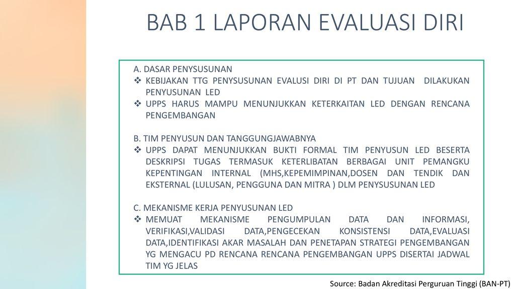 Contoh Laporan Evaluasi Diri