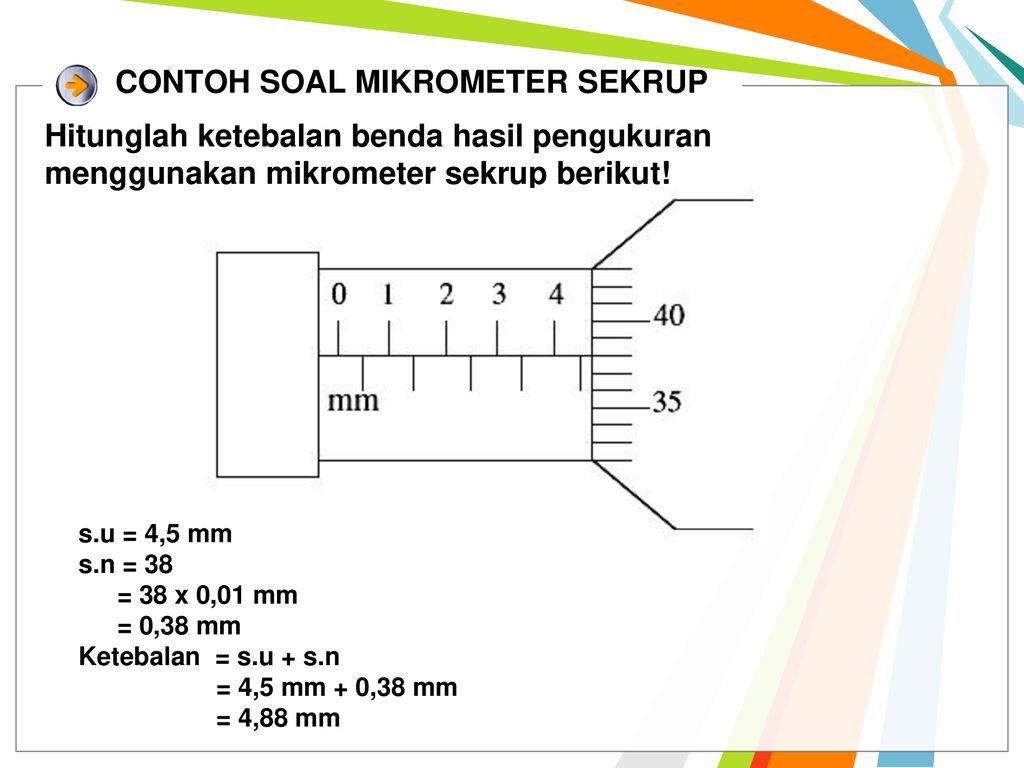Contoh Soal Mikrometer Sekrup Dan Jangka Sorong Guru Ilmu Sosial