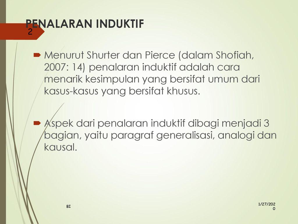 Penalaran Induktif Generalisasi Analogi Dan Kausal Ppt Download