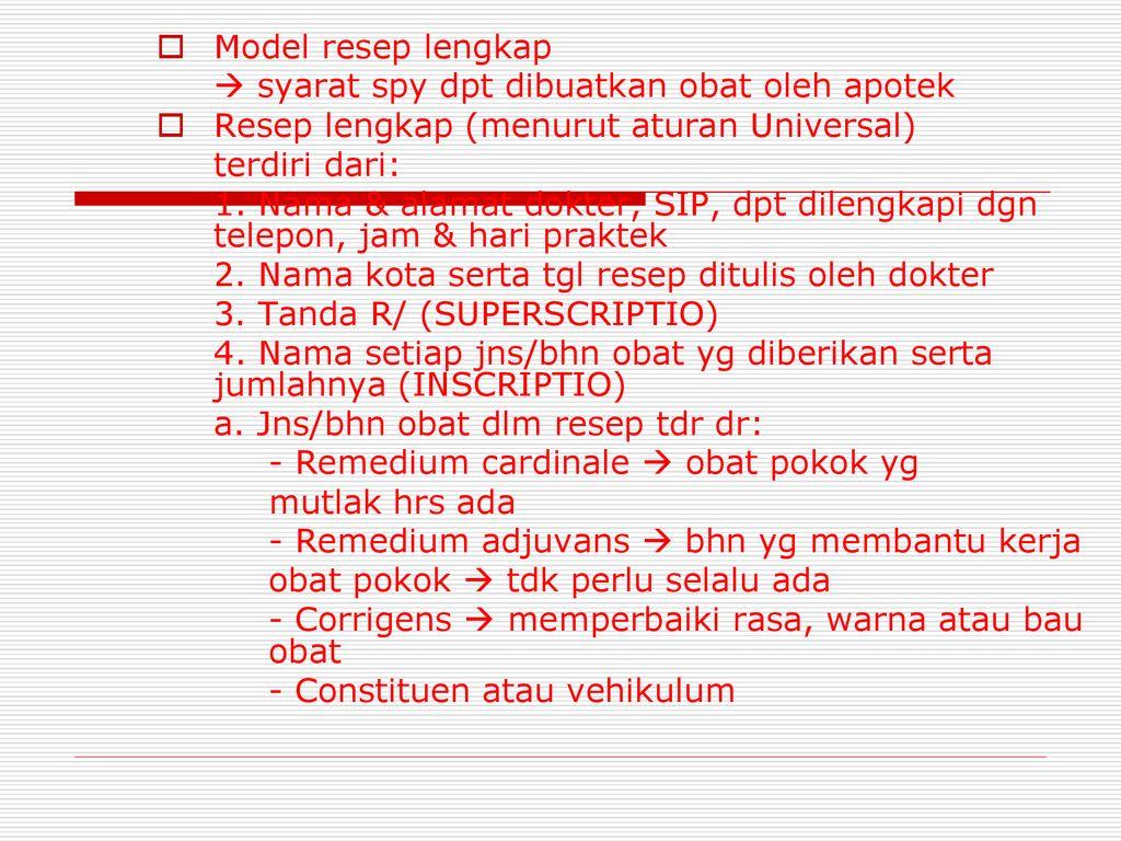 Resep Dan Salinan Resep Ppt Download