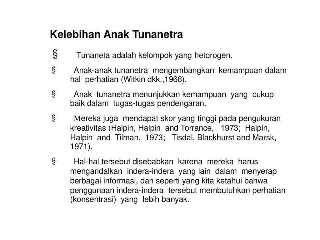 Definisi Tunanetra Visual Handicap Tunanetra Legally Definition Ppt Download