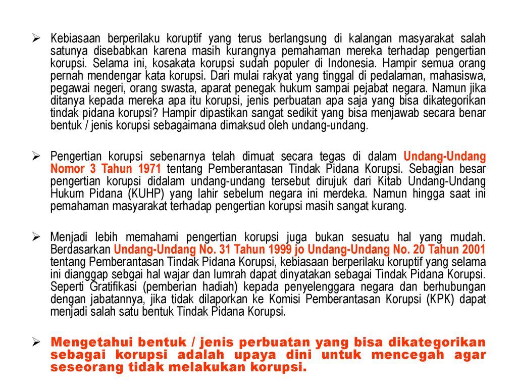 Tambahan Materi Pendidikan Anti Korupsi Ppt Download