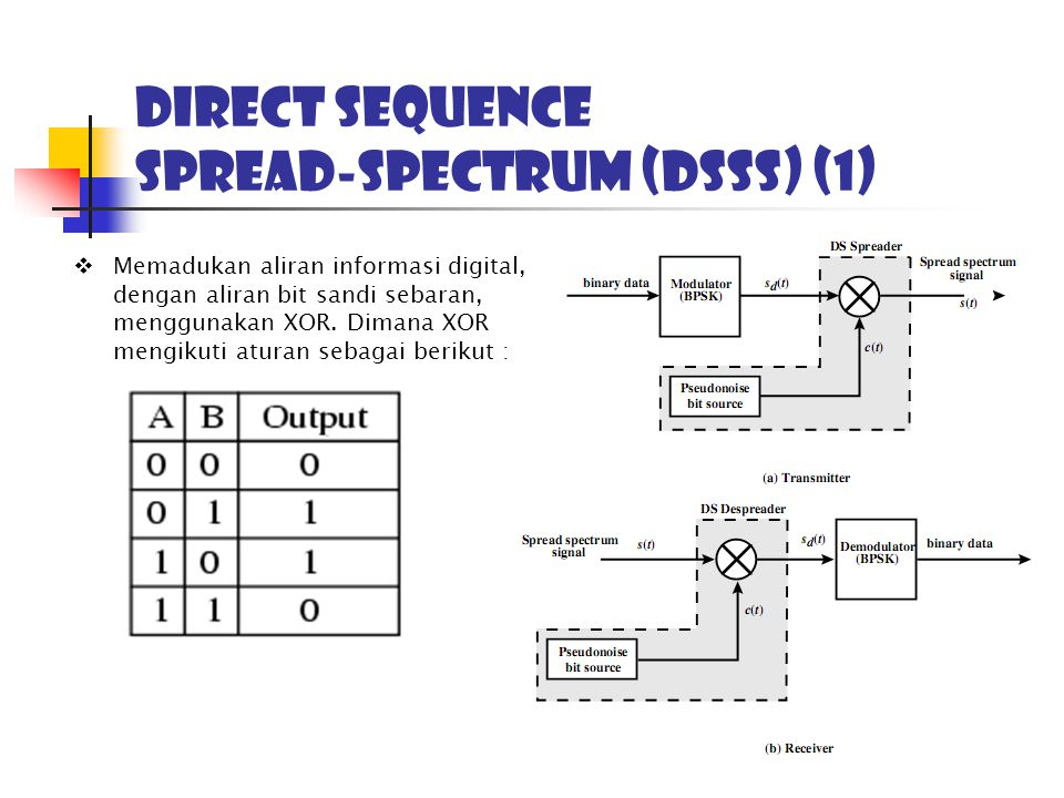 Direct sequence Spread-Spectrum (DSSS) (1)