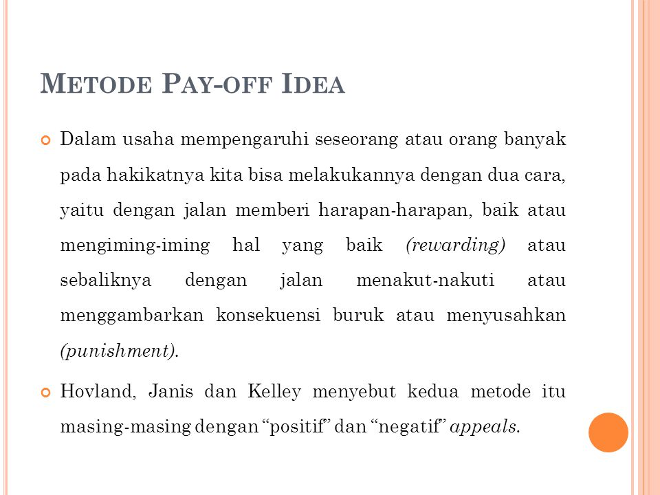 Metode Pay-off Idea