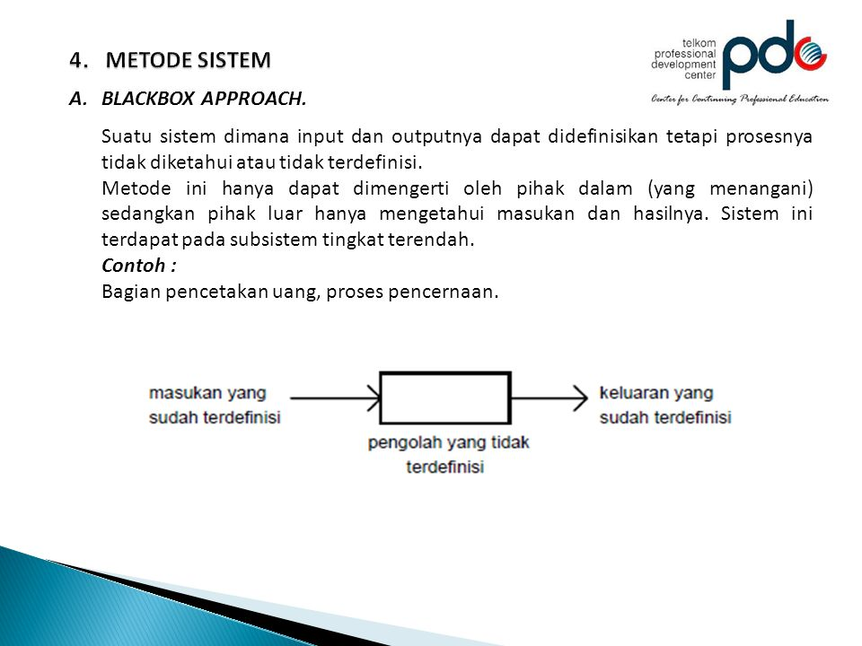 4. METODE SISTEM BLACKBOX APPROACH.