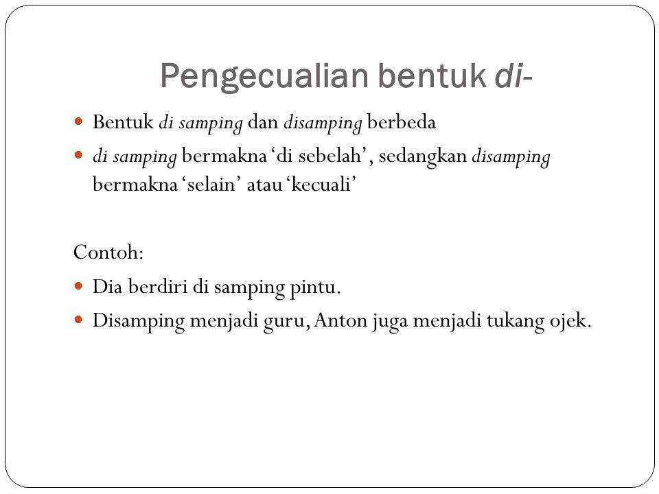 Ejaan Dalam Bahasa Indonesia Ppt Download