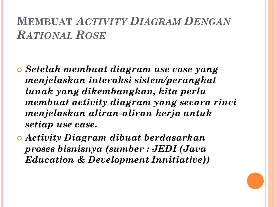 Membuat Activity Diagram Dengan Rational Rose