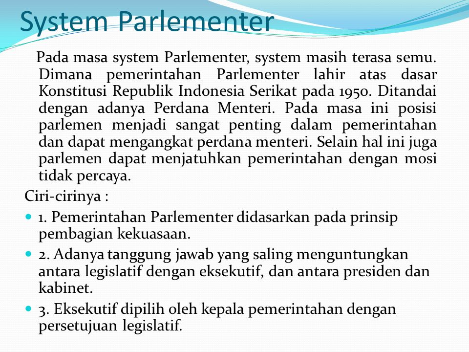 System Parlementer