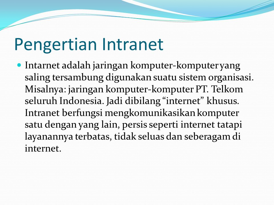 Pengertian Intranet