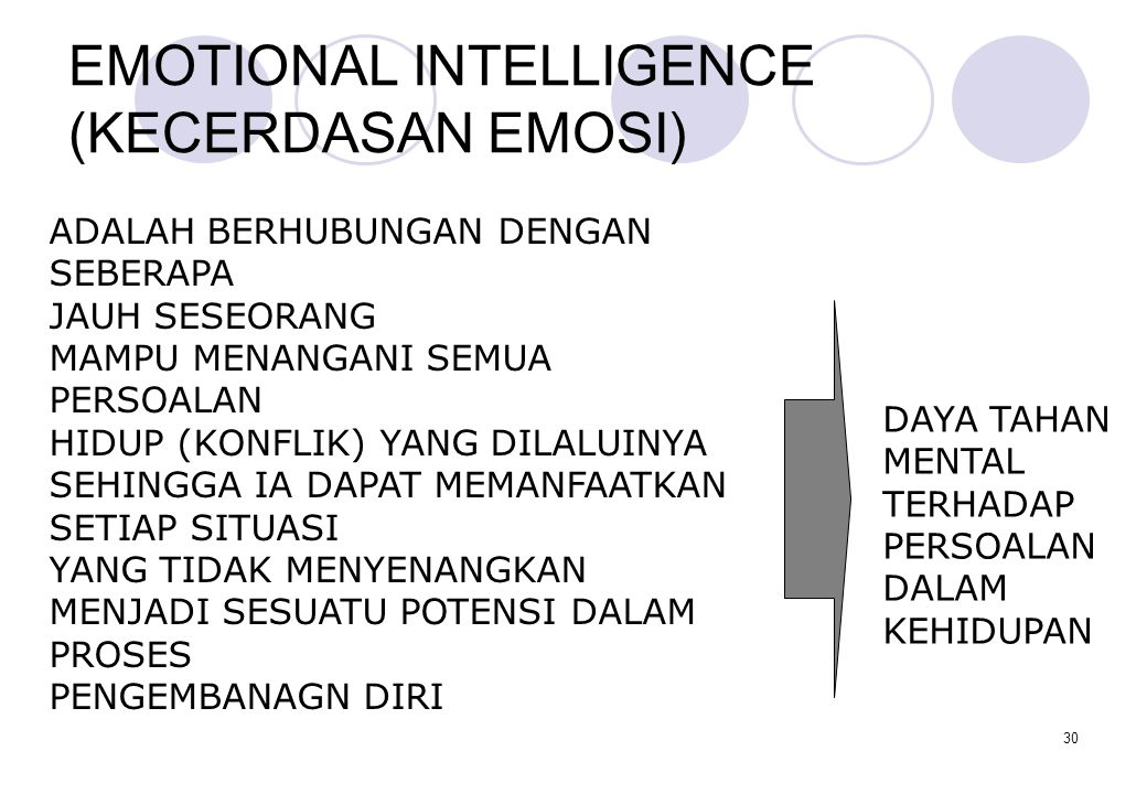EMOTIONAL INTELLIGENCE (KECERDASAN EMOSI)