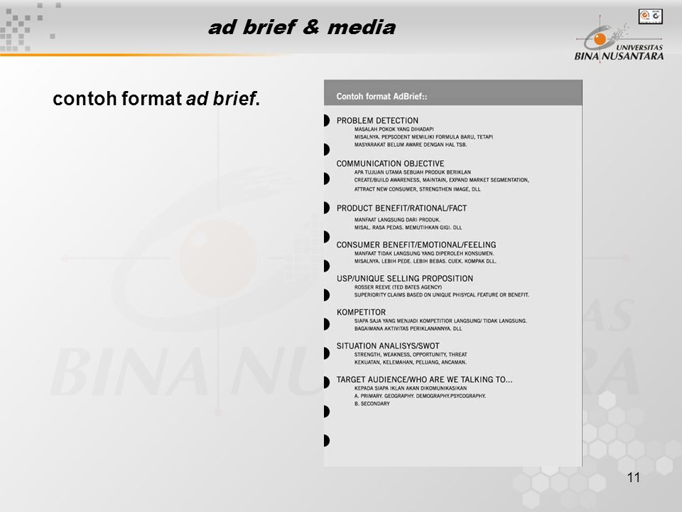 ad brief & media contoh format ad brief.
