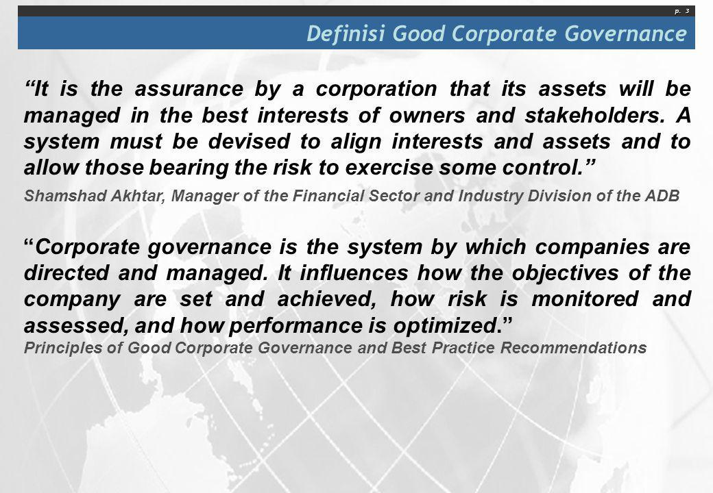 Definisi Good Corporate Governance
