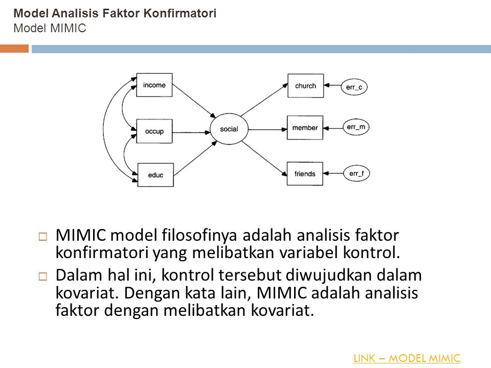 Model Analisis Faktor Konfirmatori Model MIMIC
