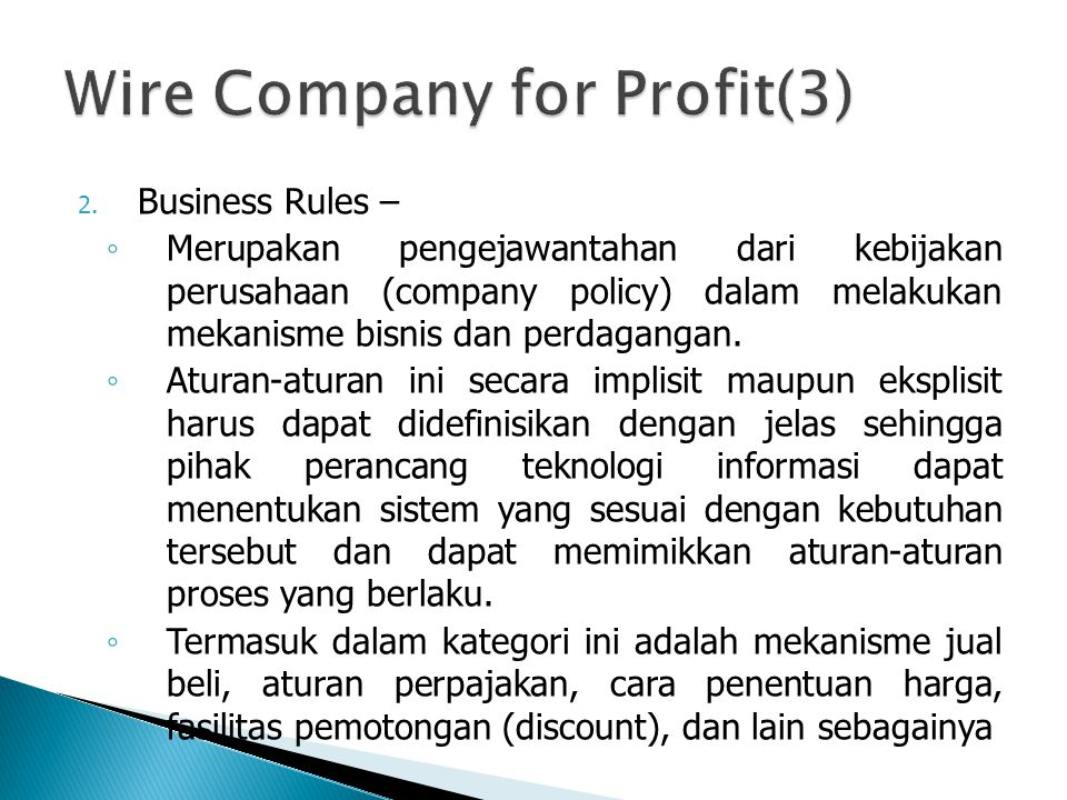 Wire Company for Profit(3)