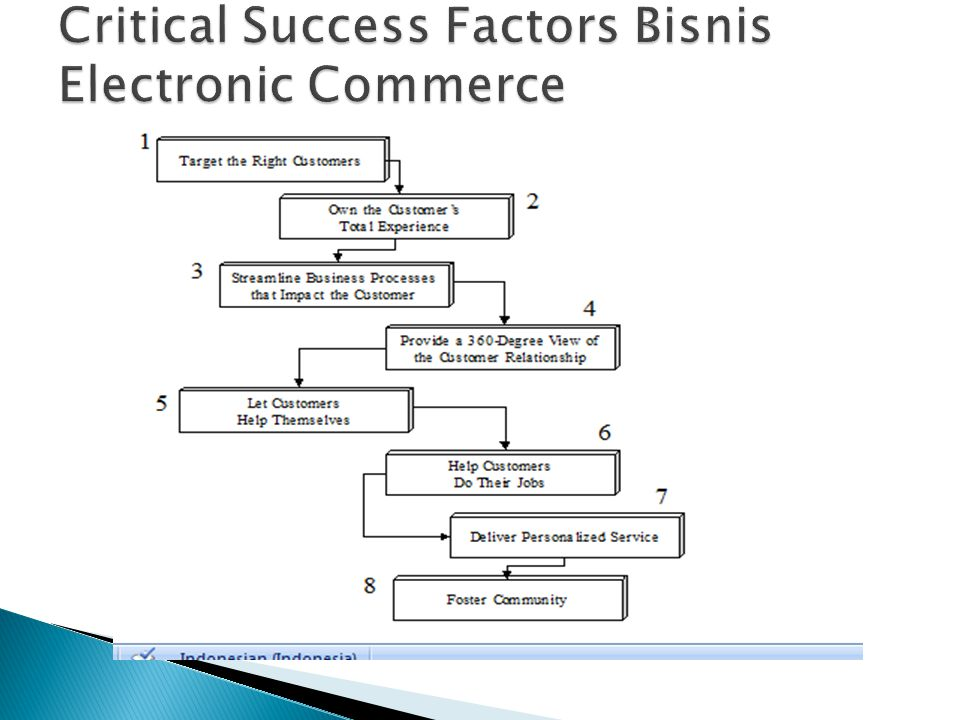 Critical Success Factors Bisnis Electronic Commerce