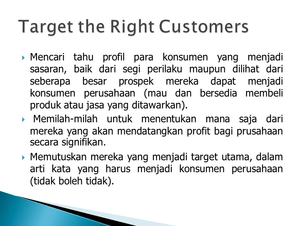 Target the Right Customers