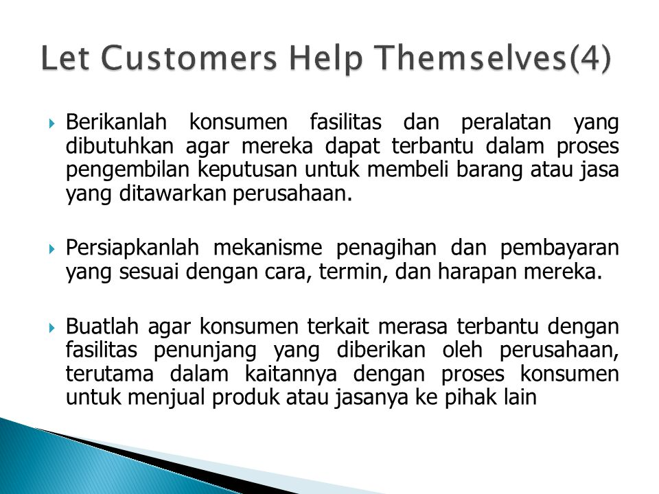 Let Customers Help Themselves(4)