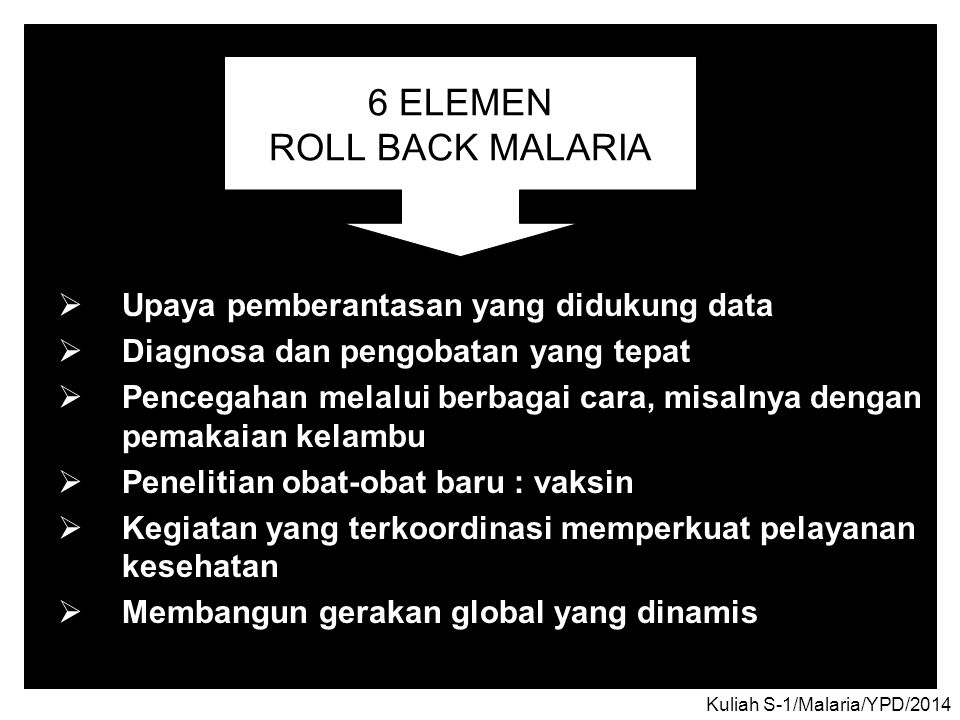 6 ELEMEN ROLL BACK MALARIA