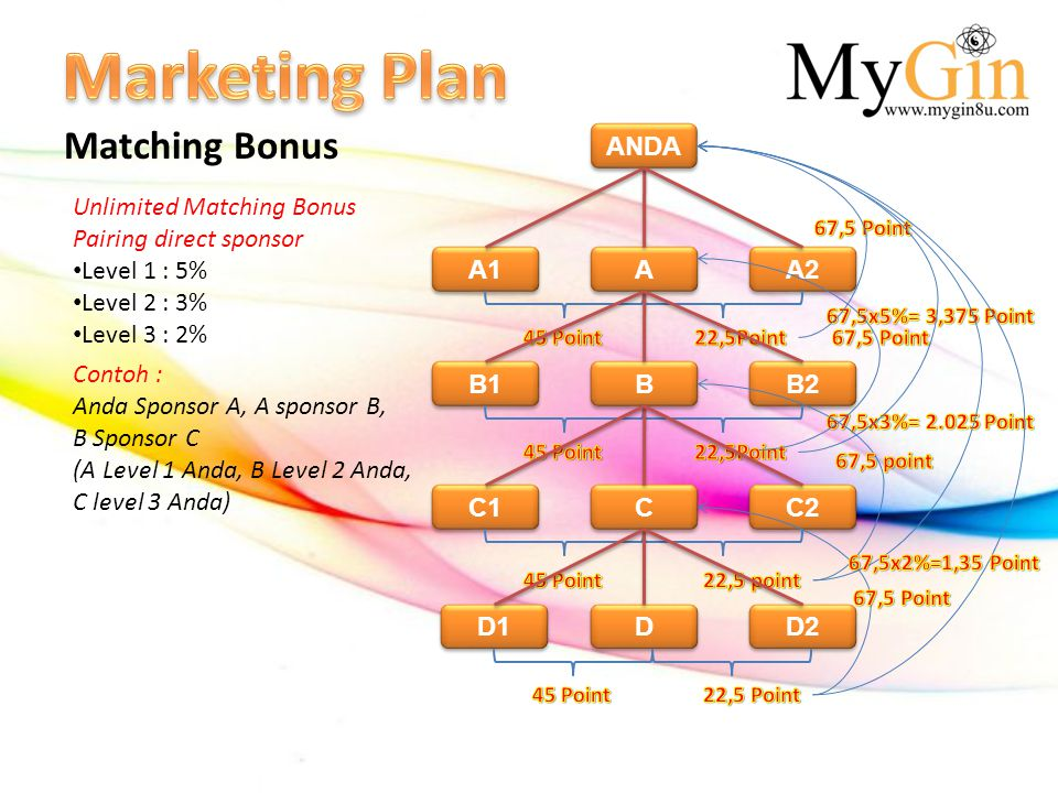 Marketing Plan Matching Bonus ANDA