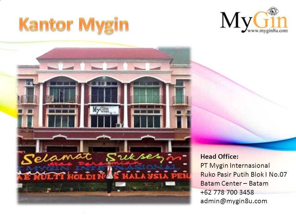 Kantor Mygin Head Office: PT Mygin Internasional