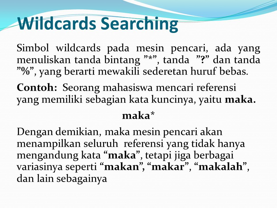 Wildcards Searching