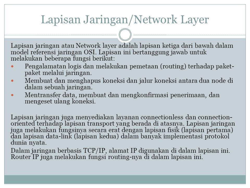 Lapisan Jaringan/Network Layer