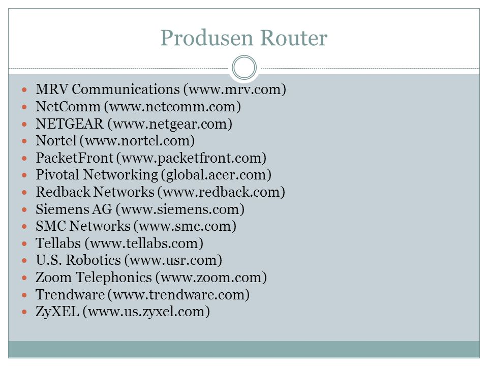 Produsen Router MRV Communications (