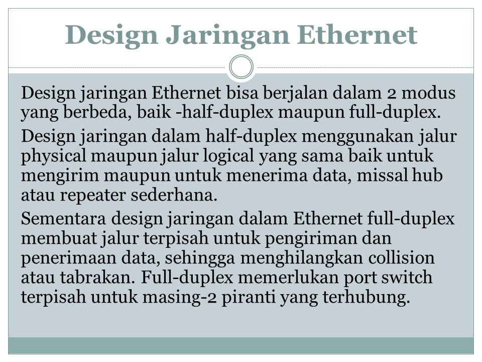 Design Jaringan Ethernet