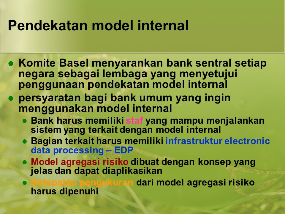 Pendekatan model internal