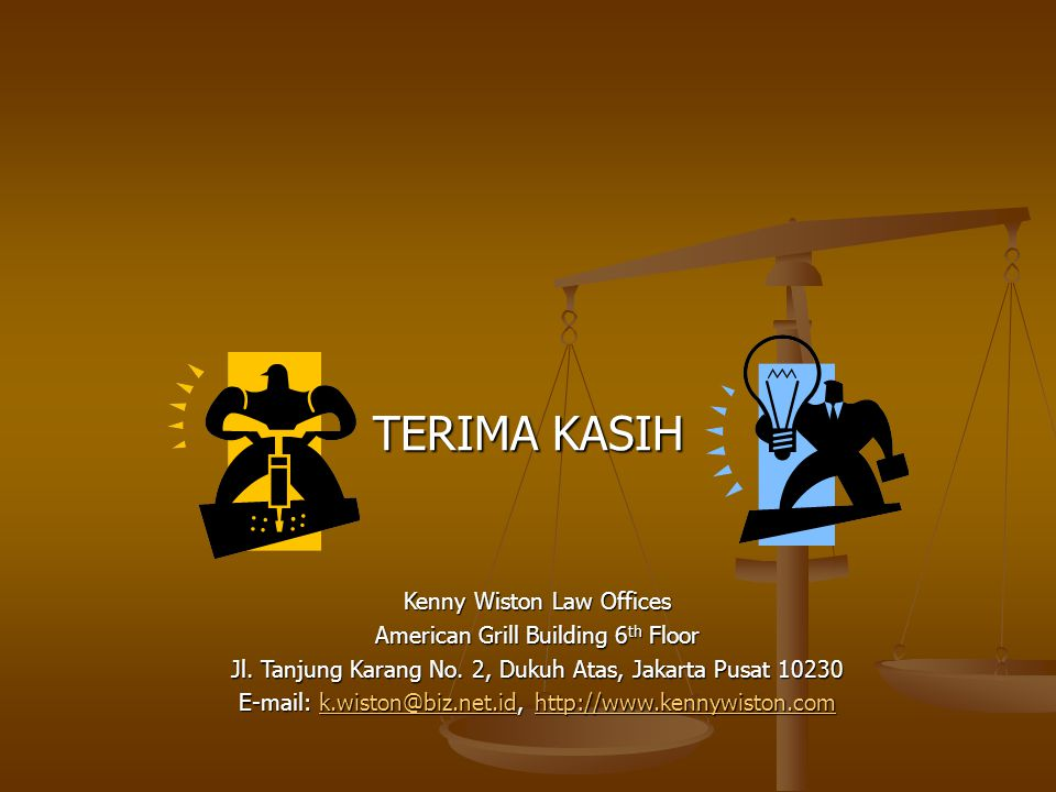 TERIMA KASIH Kenny Wiston Law Offices