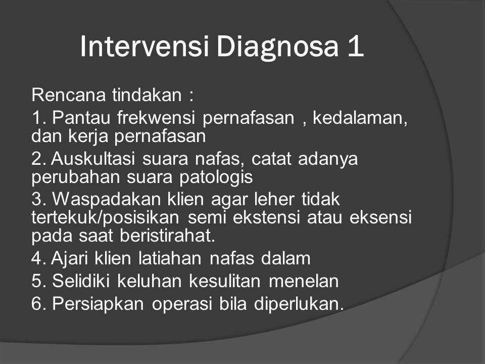 Intervensi Diagnosa 1