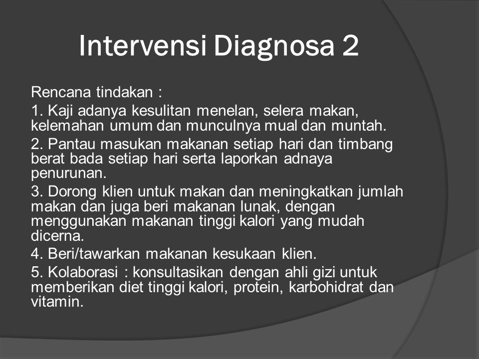 Intervensi Diagnosa 2